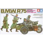 TA35016 GERMAN MOTORCYCLE B.M.W.R75 WITH SIDE 1/35