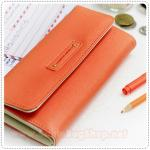 Tri Folding Wallet - Peach