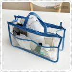 Clear dual bag in bag - Blue