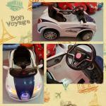 รถเด็กนั่งแบตเตอรี่บูกาติ 2 มอเตอร์ สีขาว