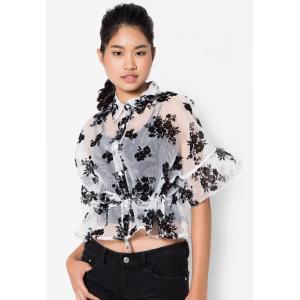 เสื้อเบลาส์ Sheer Floral