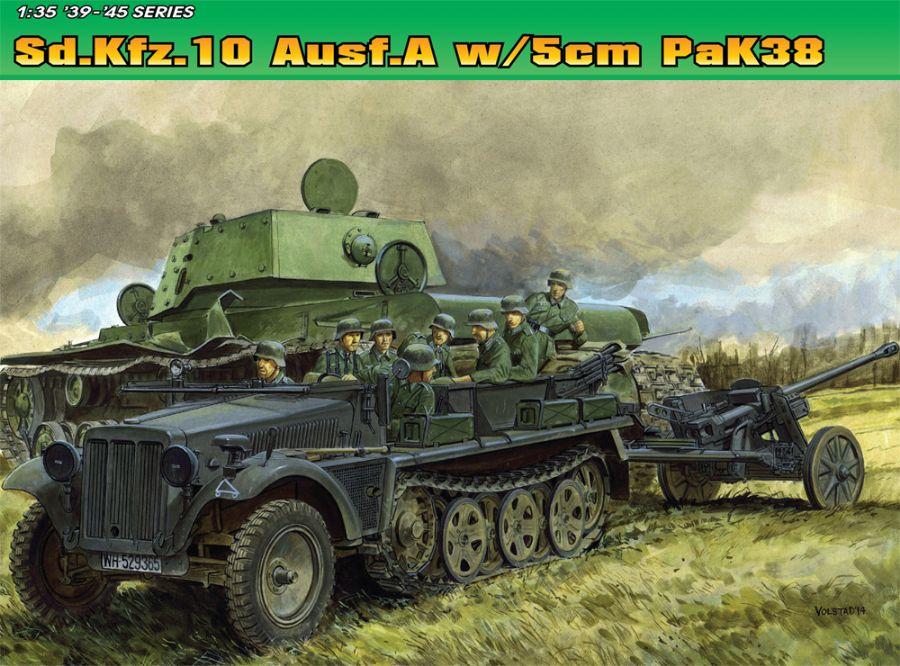 DRA6732 SD,KFZ.10AUSF A W/5cm PAK 38 1/35 SCALE