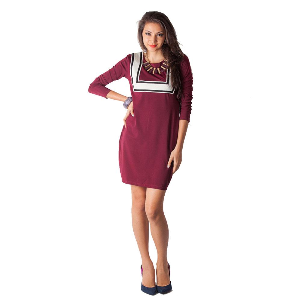 Geometric Dress - Red