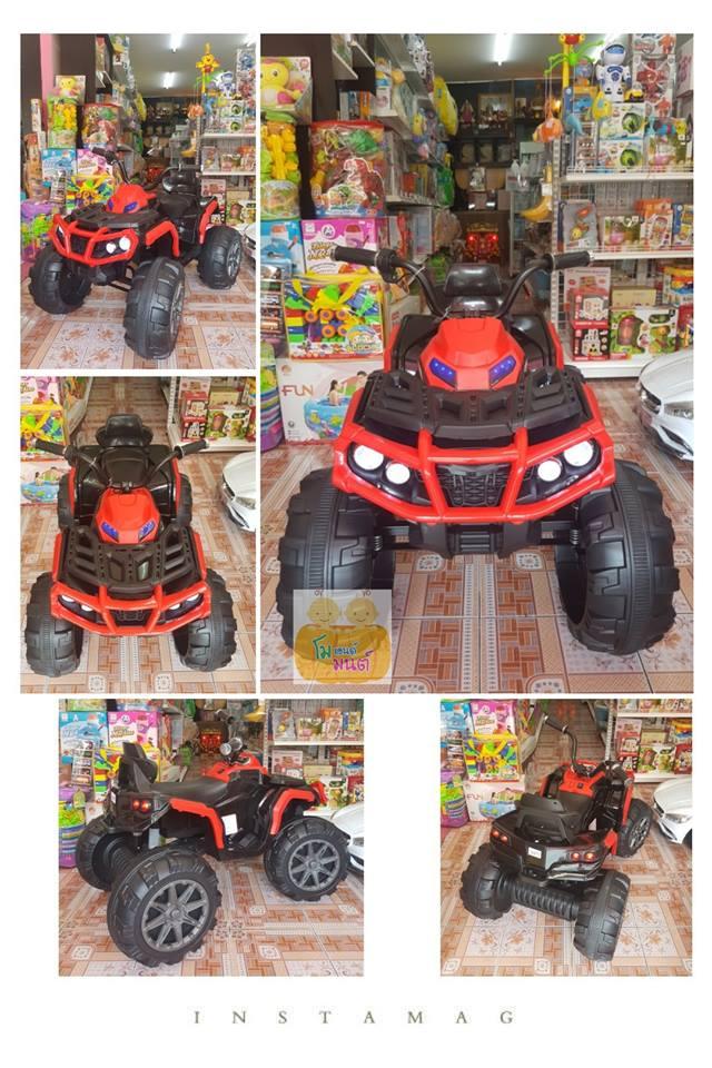 รถแบตเตอรี่เด็ก ทรง ATV คันใหญ่ รุ่นมือบิด