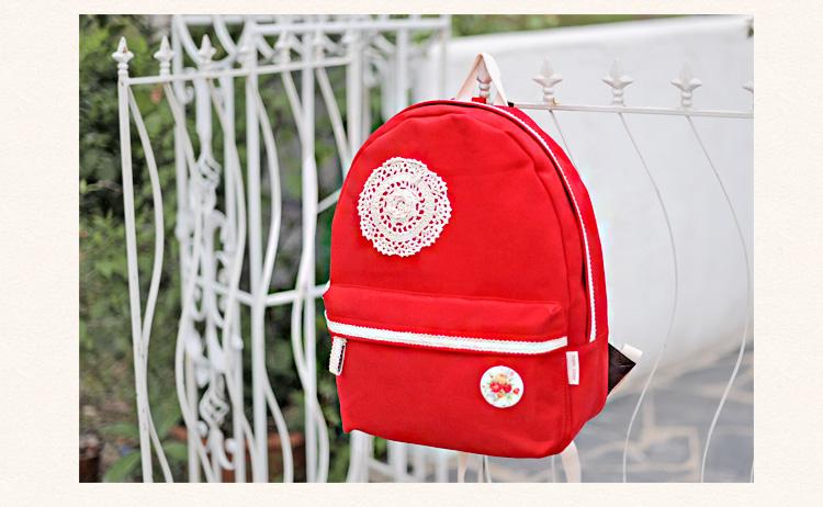 กระเป๋าเป้สะพาย ยี่ห้อ Superlover หญิงญี่ปุ่น มีช่องใส่ note book ได้ค่ะมี 2 สี แดง ครีม (Pre-Order)