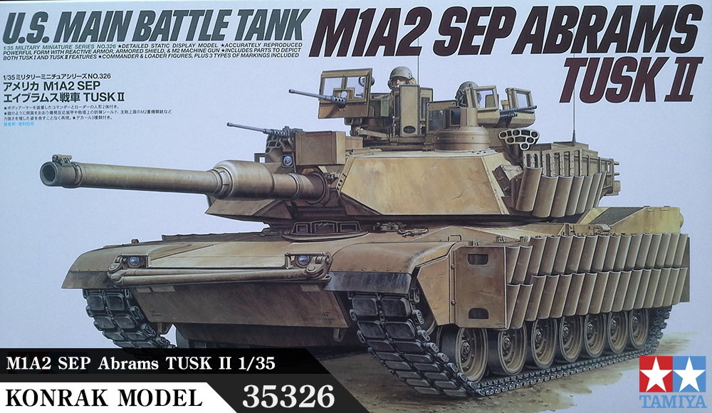 TA35326 M1A2 SEP Abrams TUSK II 1/35