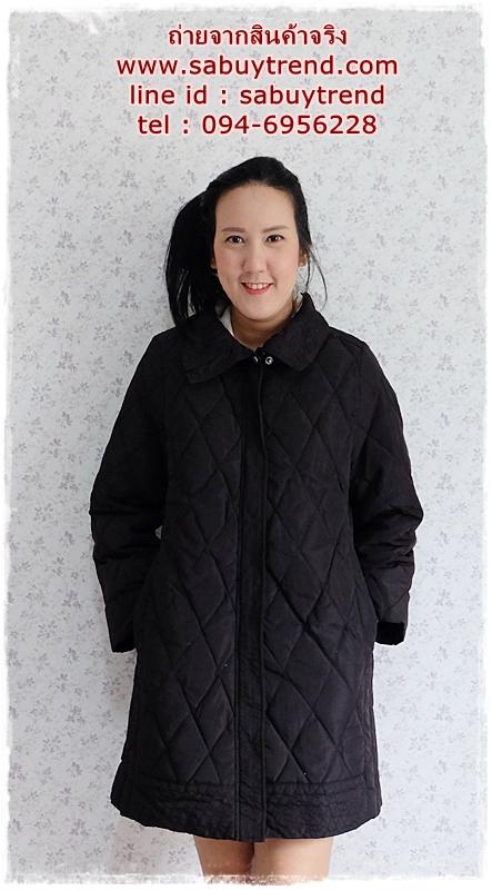 ((ขายแล้วครับ))((คุณอันอันจองครับ))ca-2780 เสื้อโค้ทขนเป็ดสีดำ รอบอก40