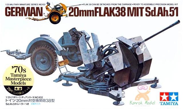 TA35102 1/35 German 20mm Flak 38 Kit