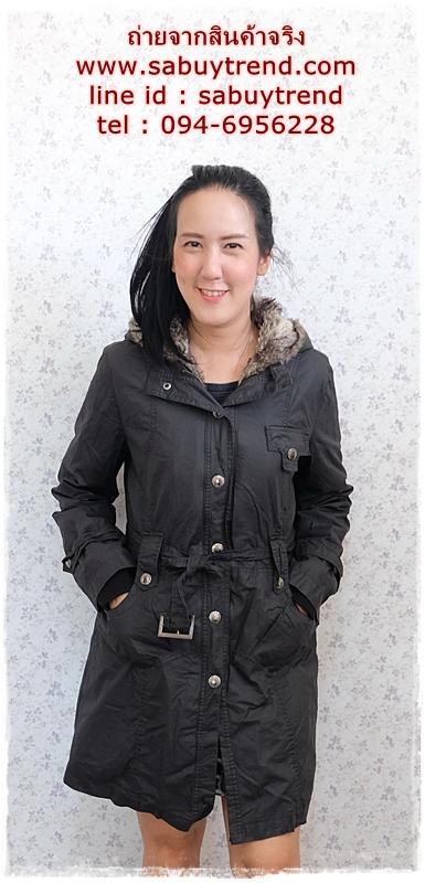 ((ขายแล้วครับ))((จองแล้วครับ))ca-2741 เสื้อโค้ทกันหนาวสีดำ รอบอก40