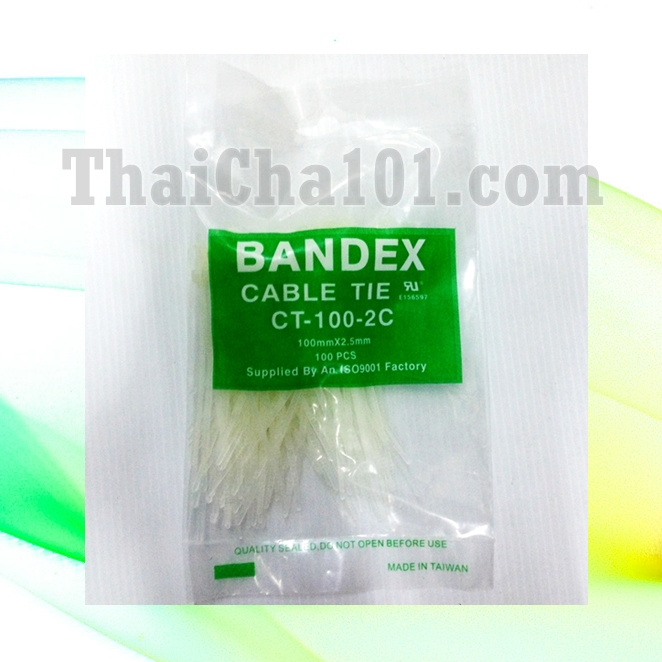 CABLE TIES ยี่ห้อ BANDEX สีขาว 4 นิ้ว