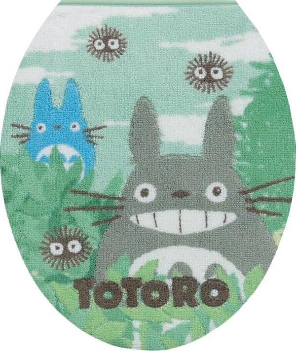 ผ้าครอบฝาชักโครก My Neighbor Totoro สีเขียว