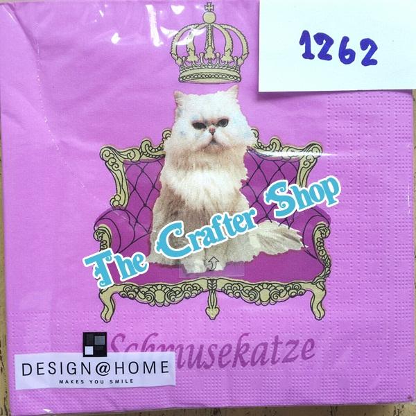 napkin ลายน้องแมว (รหัสสินค้า NA-1262)