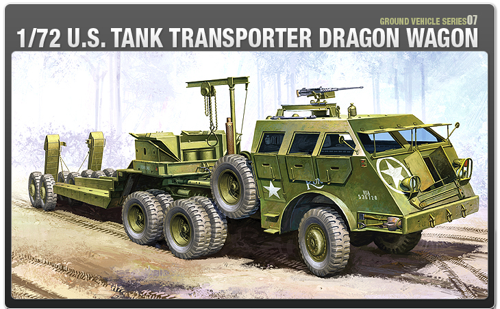 AC13409 WWII GROUND VEHICLE SET-7 U.S.TANK TRANSPORTER DRAGON WAGON (1/72)