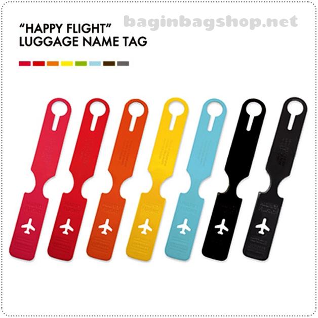 HAPPY FLIGHT Long Luggage Tag ป้ายห้อยกระเป๋าเดินทาง