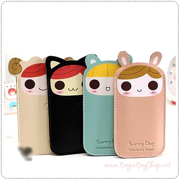 ซองหนังใส่ IPhone สีพาสเทล
