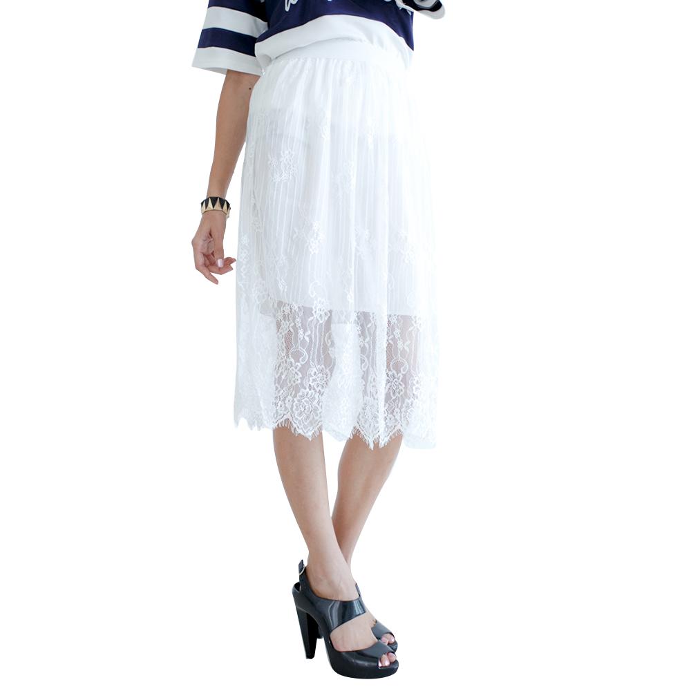 Mirror Dress's Sheer Lace Skirt