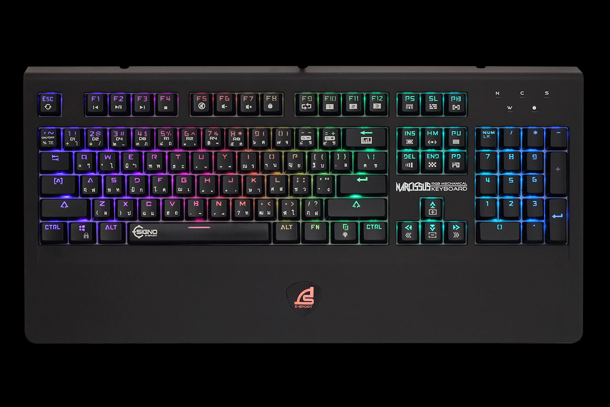 คีย์บอร์ด Signo E-Sport KB-799 Narcissus RGB Mechanical Gaming - (Blue Switch)