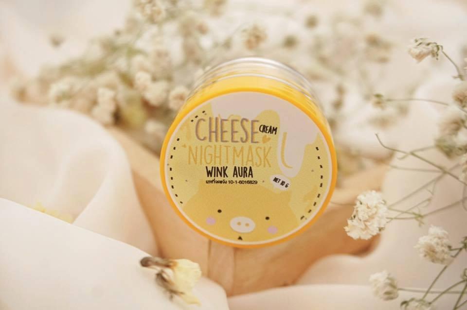 Cheese Cream Night Mask by Wink Aura 10 g. มาส์คหมูชีส