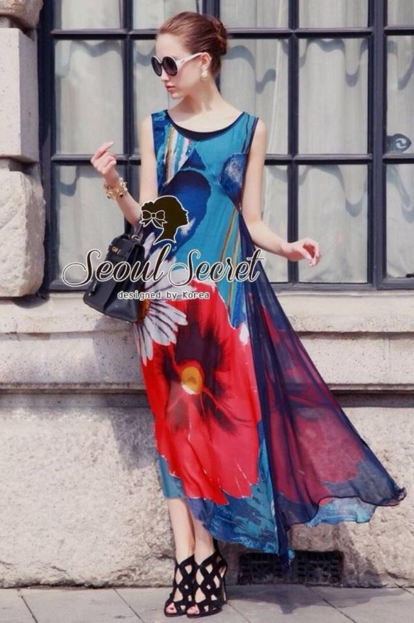 Seoul Secret Silky DKNY Maxi Dress