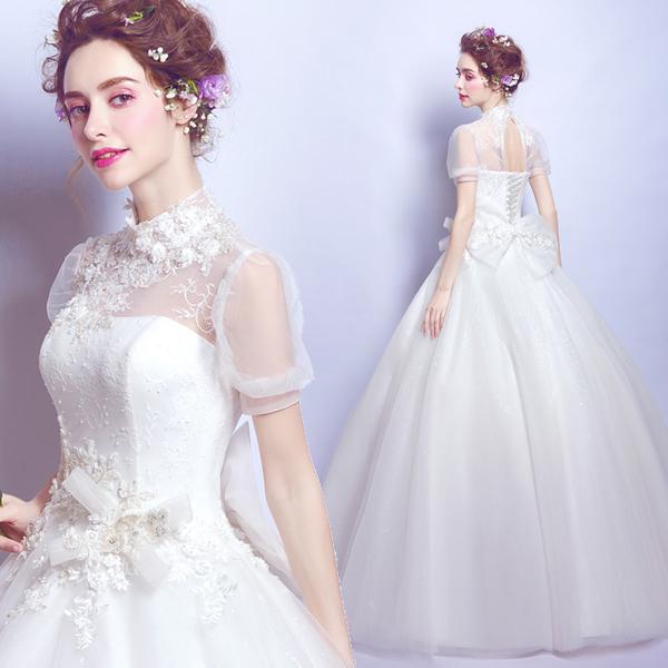 (Pre-Order) ชุดแต่งงาน <ปิดคอ> รหัสสินค้า WDL0844