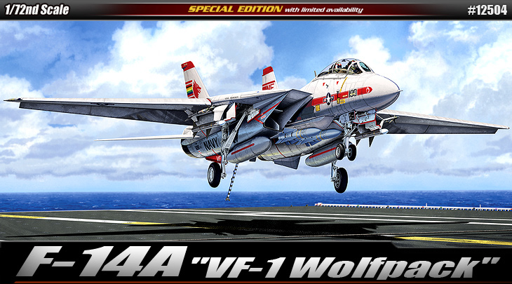 "AC12504 F-14A ""VF-1 WOLF PACK"" 1/72"