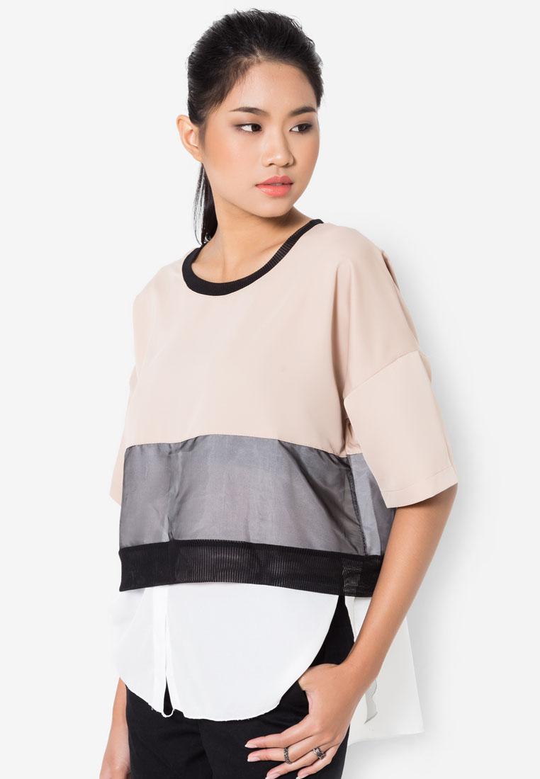เสื้อเบลาส์ Colour Panelled