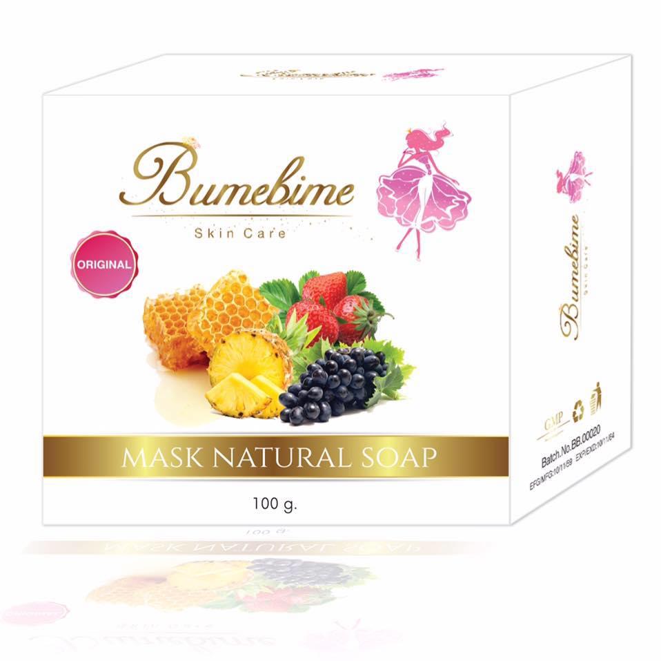 Bumebime Mask Natural Soap 100 g. สบู่บุ๋มบิ๋ม แค่ฟอก ก็ขาวได้