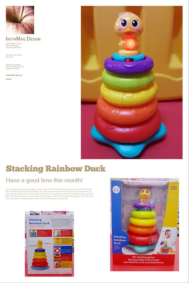 Stacking Rainbow Duck ชุด เป็ดน้อยสแต๊คสายรุ้ง 5 ห่ว