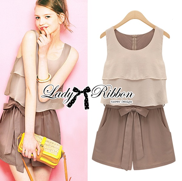 Lady Ribbon Lady Summer Playful Chic Layered Jumpsuit