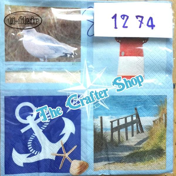 napkin ลายทะเลชายหาด (รหัสสินค้า NA-1274)