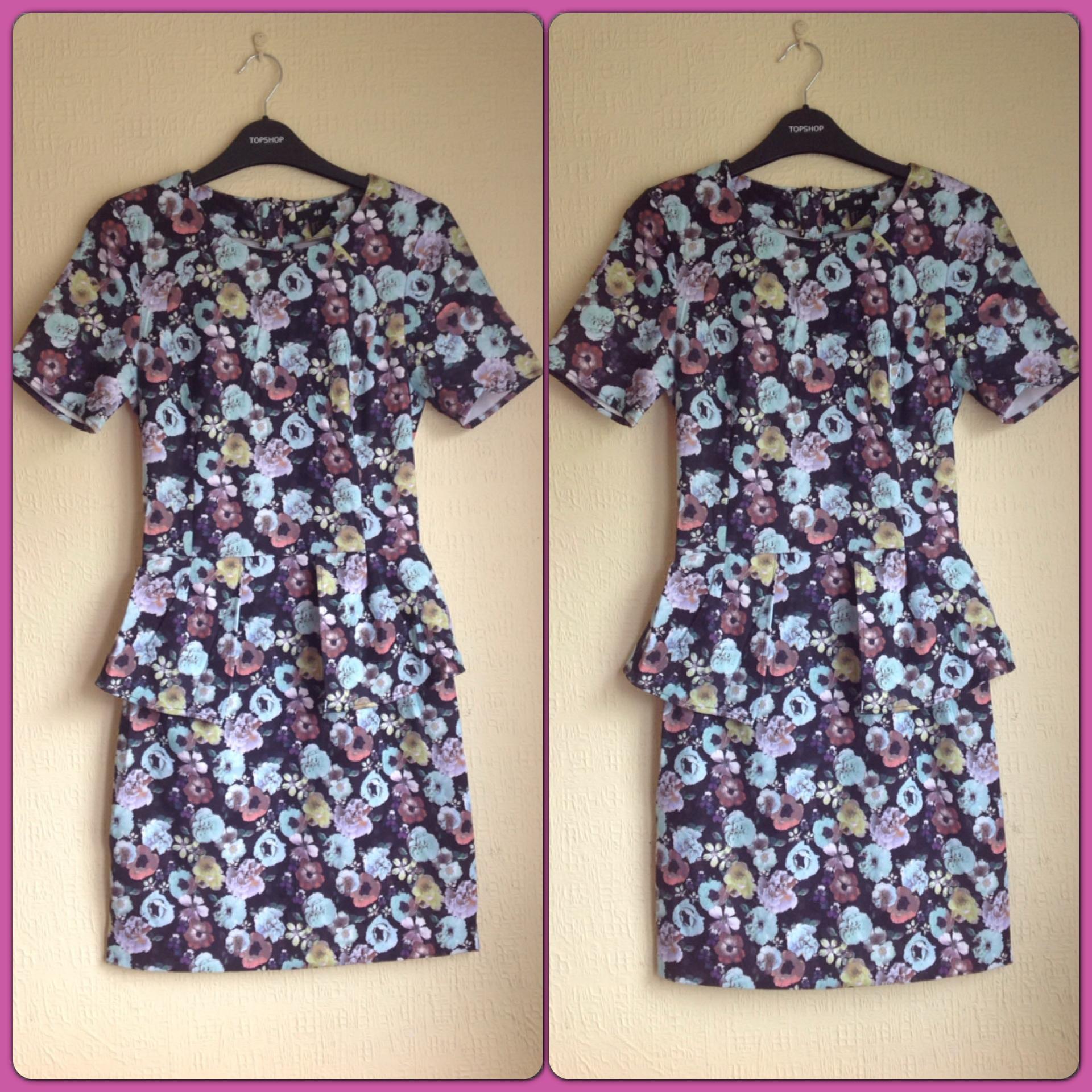 H&M Concious Floral Dress Size uk8