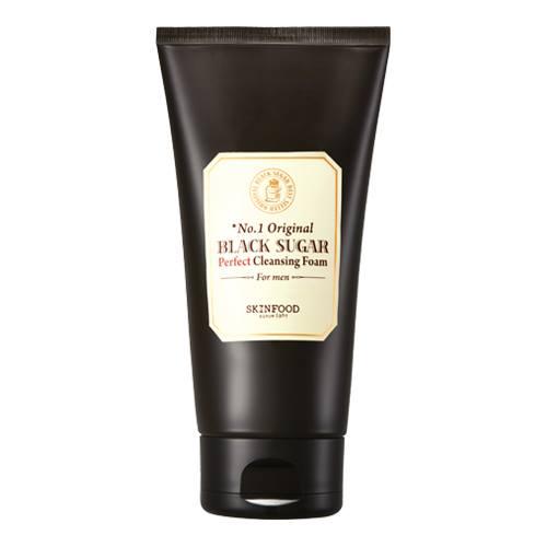 Skinfood Black Sugar Perfect Cleansing Foam For Men 150 ml. โฟมล้างหน้า จากน้ำตาลทรายดำ