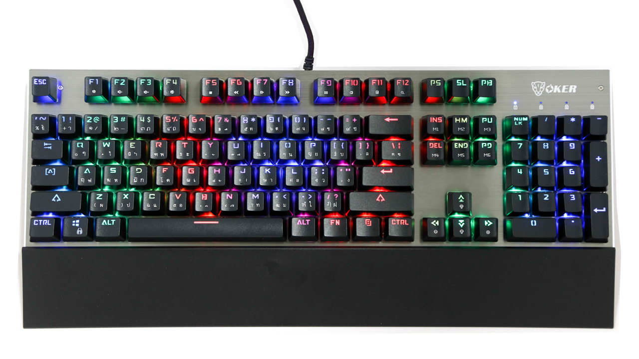 OKER RGB K95 Mechanical Keyboard Blue Outemu Switch