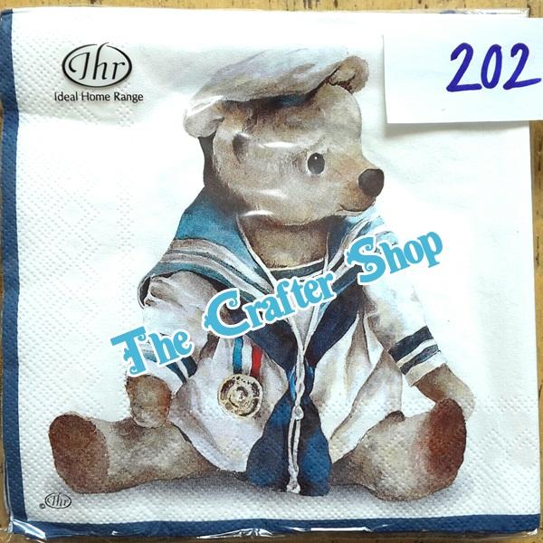 napkin ลายหมี (รหัสสินค้า NA-202)