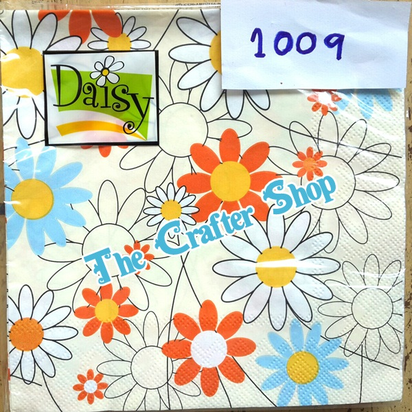napkin ลายดอกไม้ (รหัสสินค้า NA-1009)
