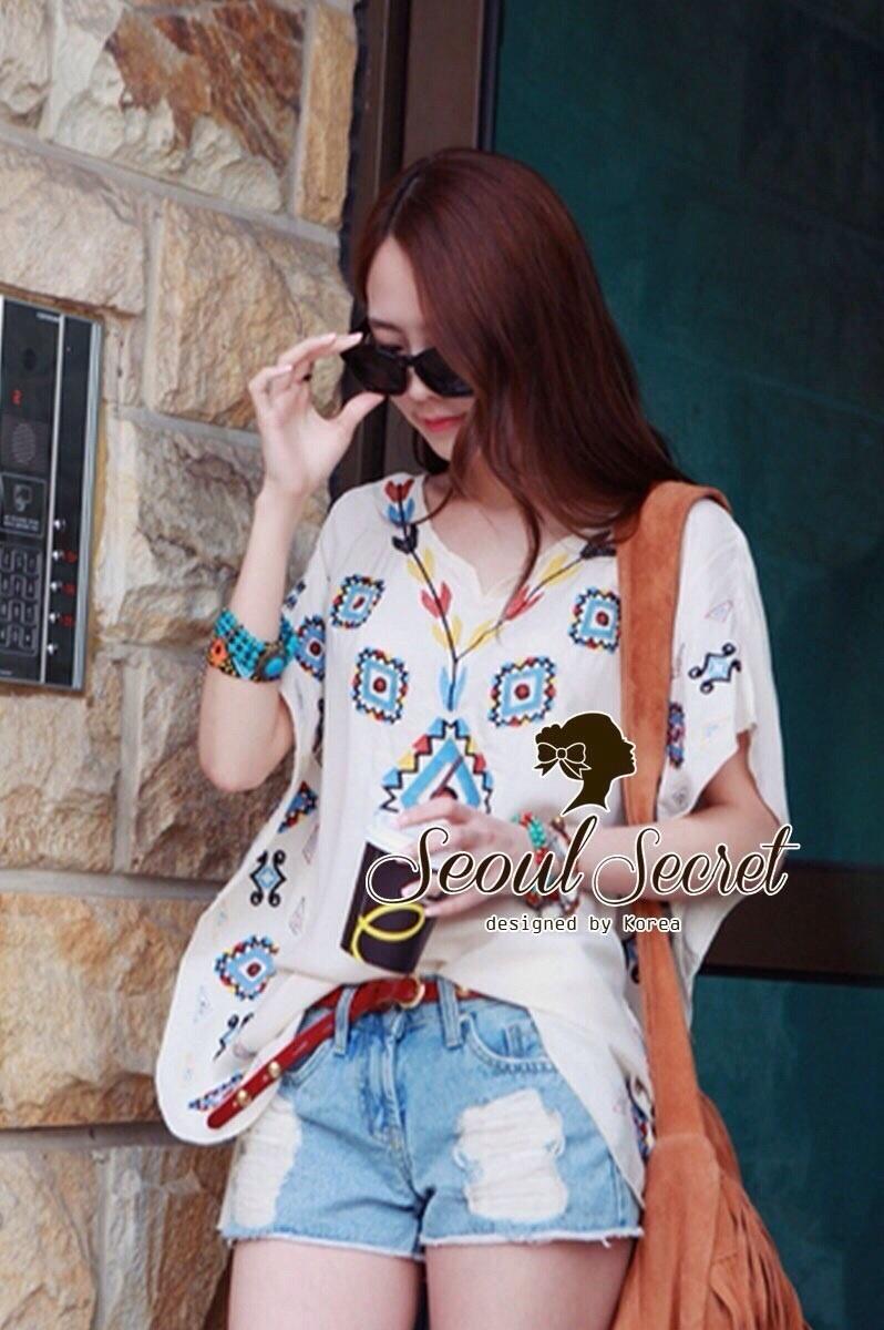 Seoul Secret เสื้อปักลายสไตล์สาวอินเดียนแดง
