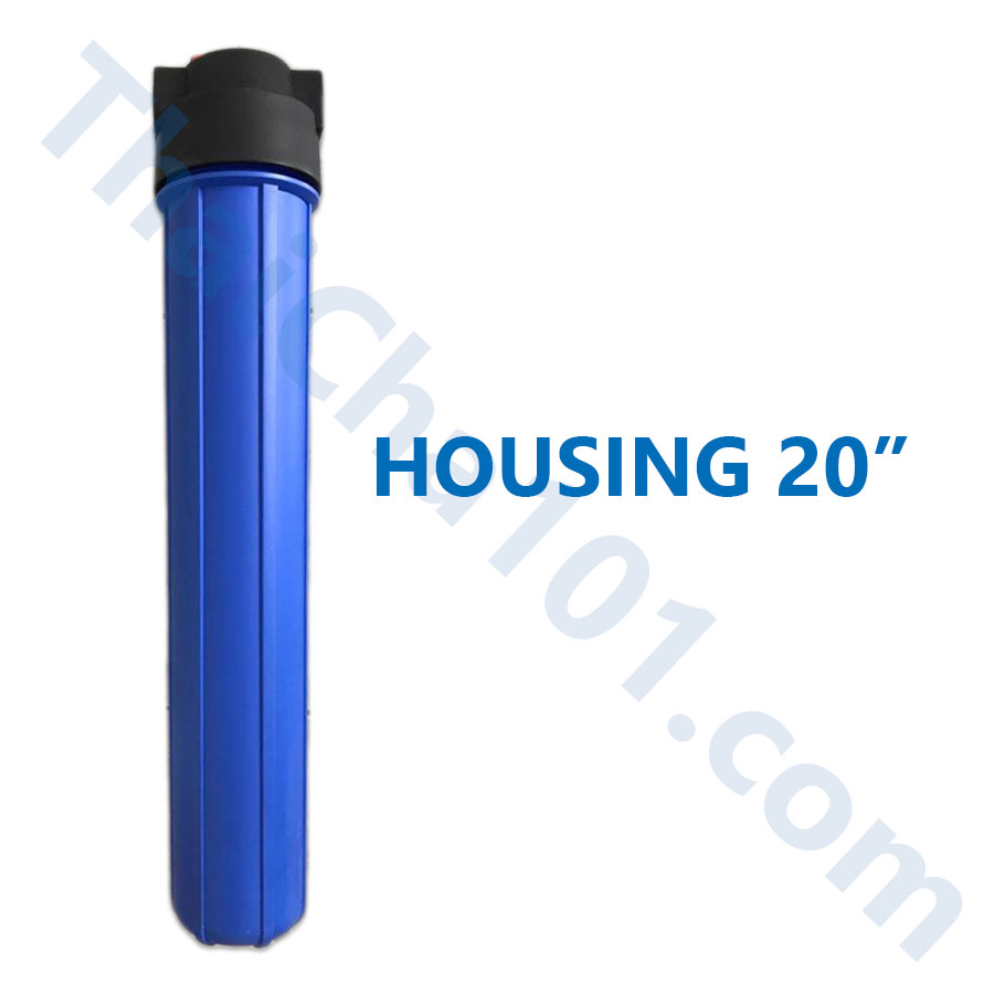 Housing 20นิ้ว สีน้ำเงินมีปุ่มปรับความดัน