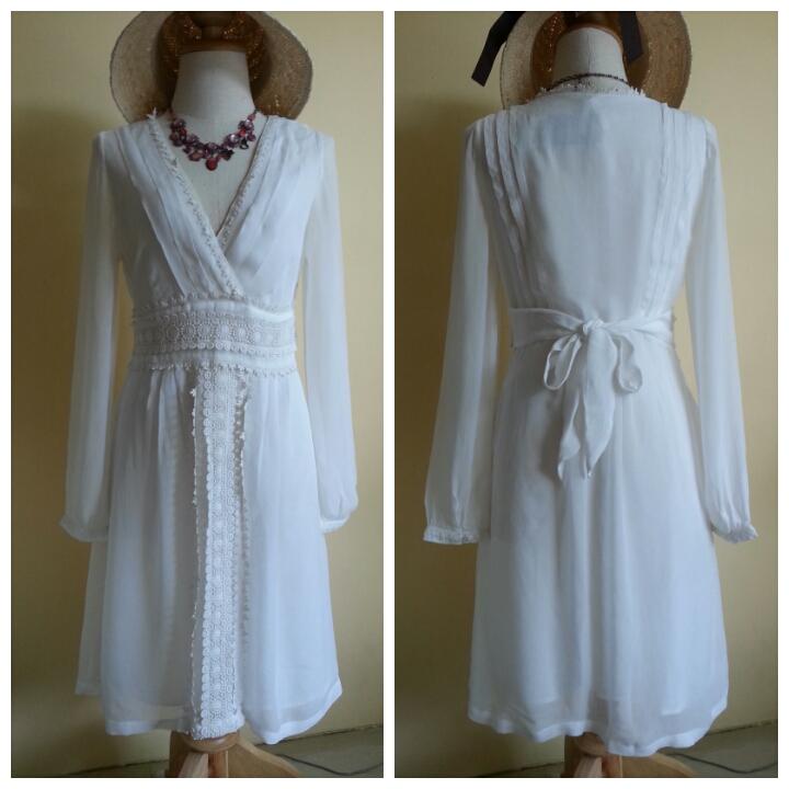Next Vintage Broidery Dress Size uk8