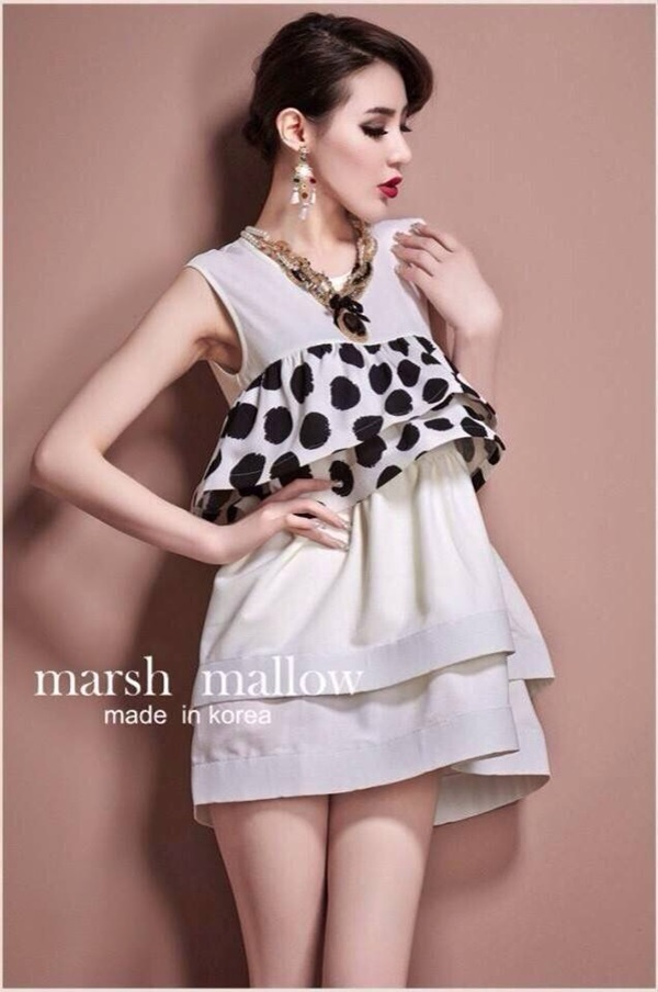 Marsh Mallow Polka Dot and Strip Dress