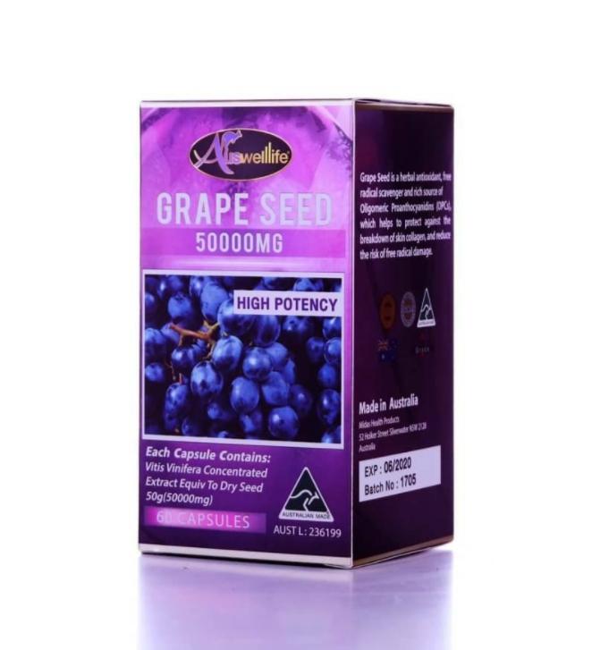 Auswelllife Grape Seed 50,000 mg สารสกัดจากเมล็ดองุ่นเข้มข้น