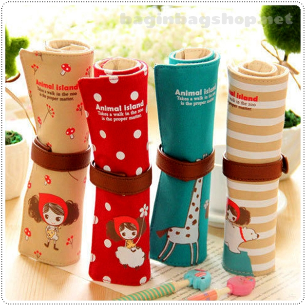 Animal Roll Up Pencil Cases