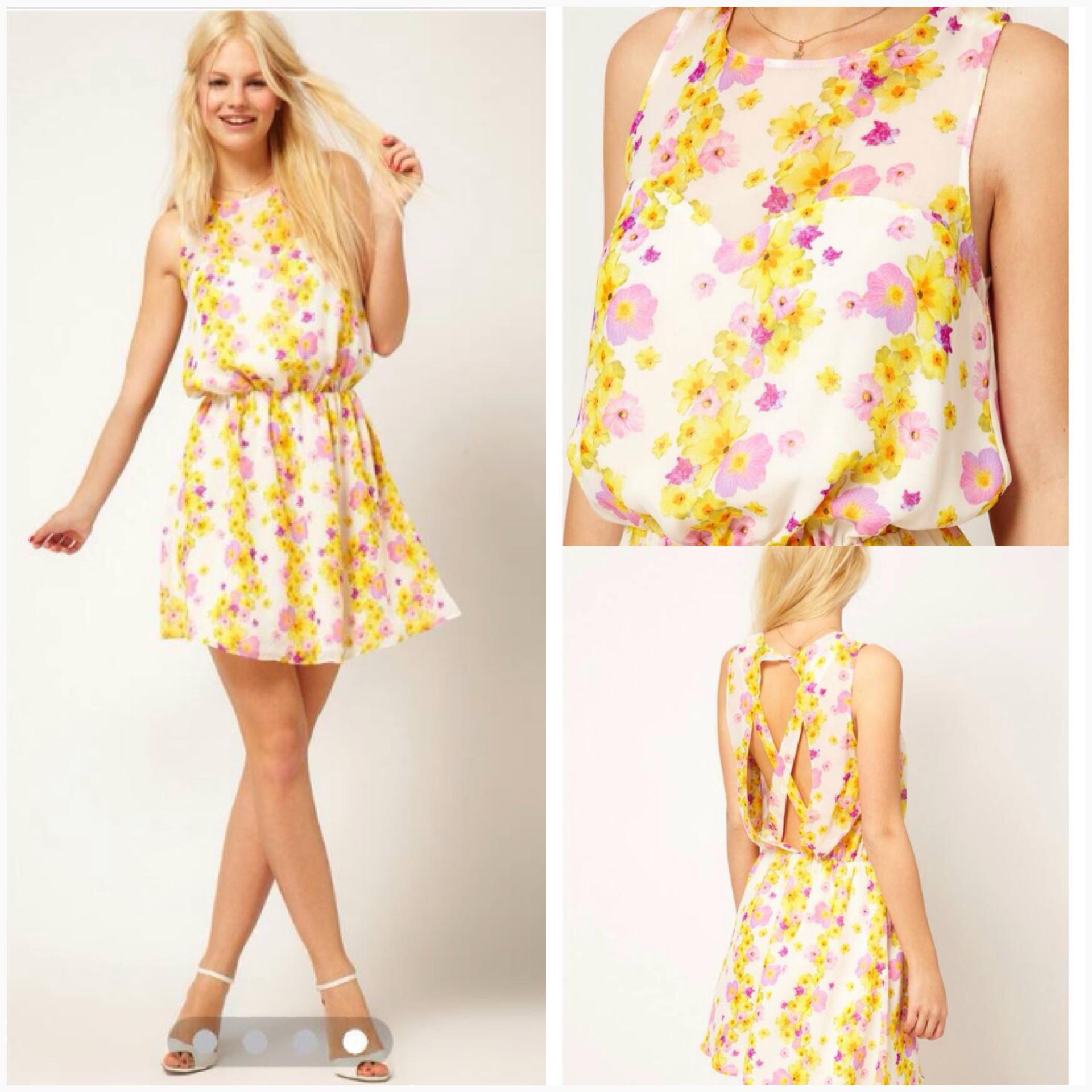 ASOS Floral Dress Size Uk8 =2