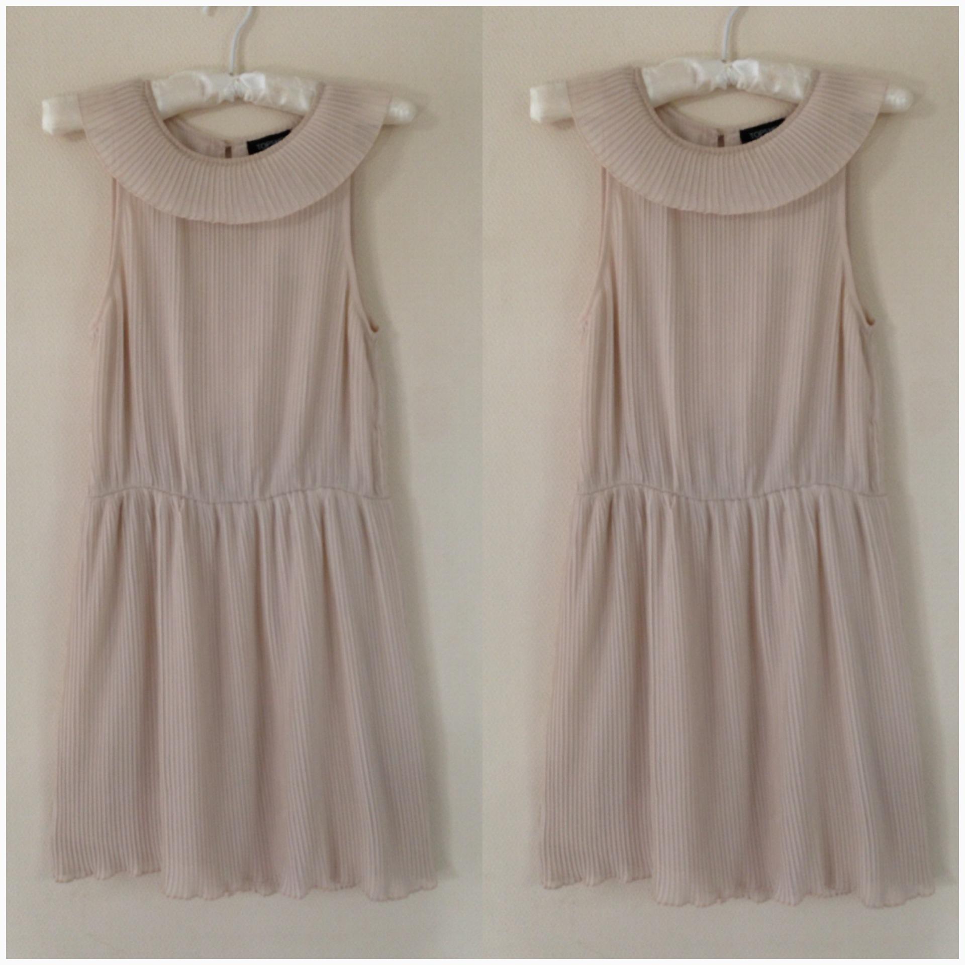 Topshop Grecian style Light Pink/Peach Dress