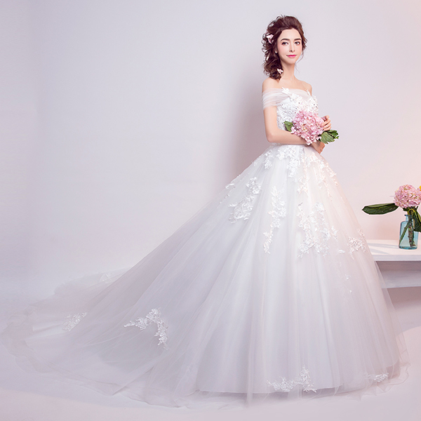 (Pre-Order) ชุดแต่งงาน <ไหล่ปาด> รหัสสินค้า WDL0805