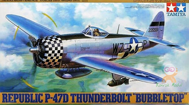 TA61090 P-47D Thunderbolt Bubbletop 1/48