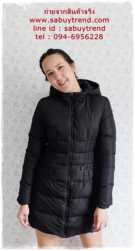 ((ขายแล้วครับ))((คุณJumจองครับ))ca-2798 เสื้อโค้ทขนเป็ดสีดำ รอบอก36