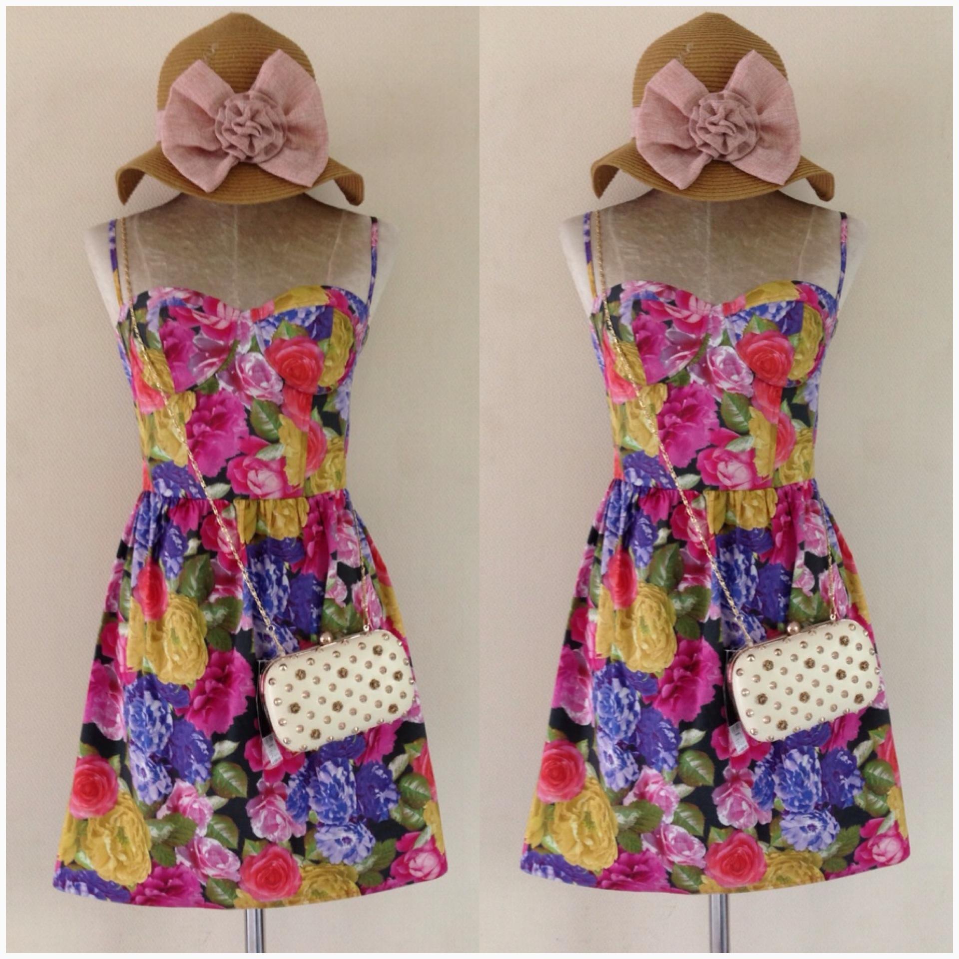 Topshop Floral Dress Size Uk10