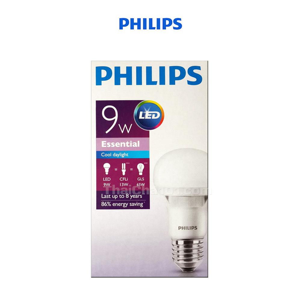 หลอดไฟ LED 9W PHILIPS สีขาว Cool Daylight