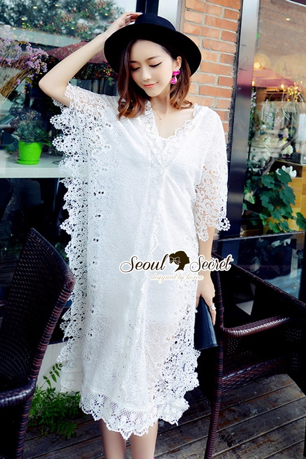 Seoul Secret Lace Maxi Dress
