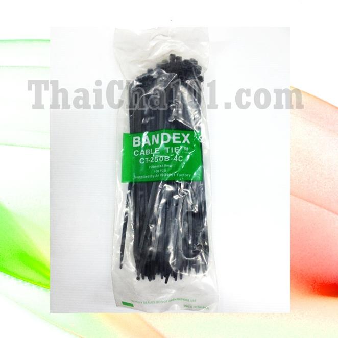 CABLE TIES ยี่ห้อ BANDEX สีดำ 10 นิ้ว